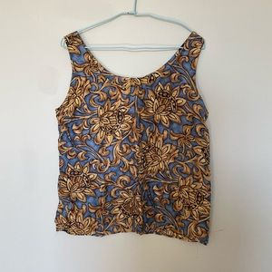 Silk sleeveless silk top M
